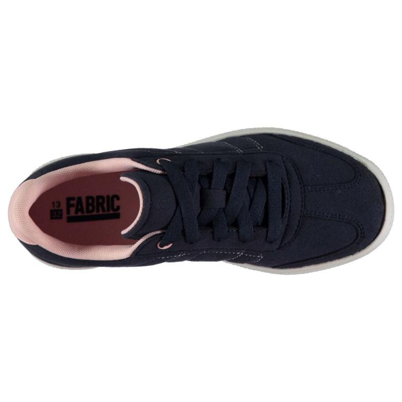 Fabric Zele Child Girls Trainers Navy/Pink