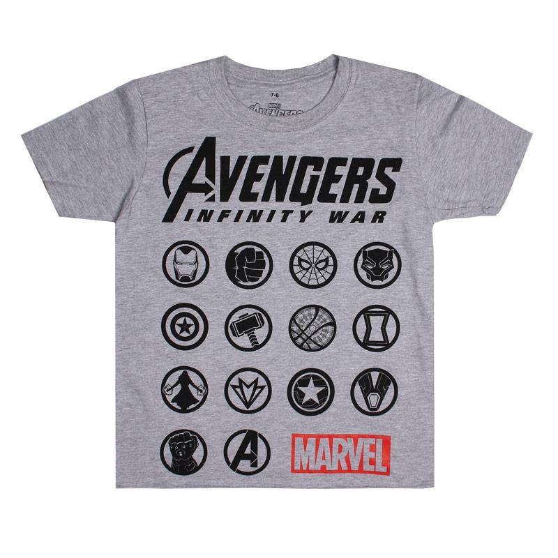 Tričko Marvel Junior Boys Avengers Emblem T-Shirt Grey
