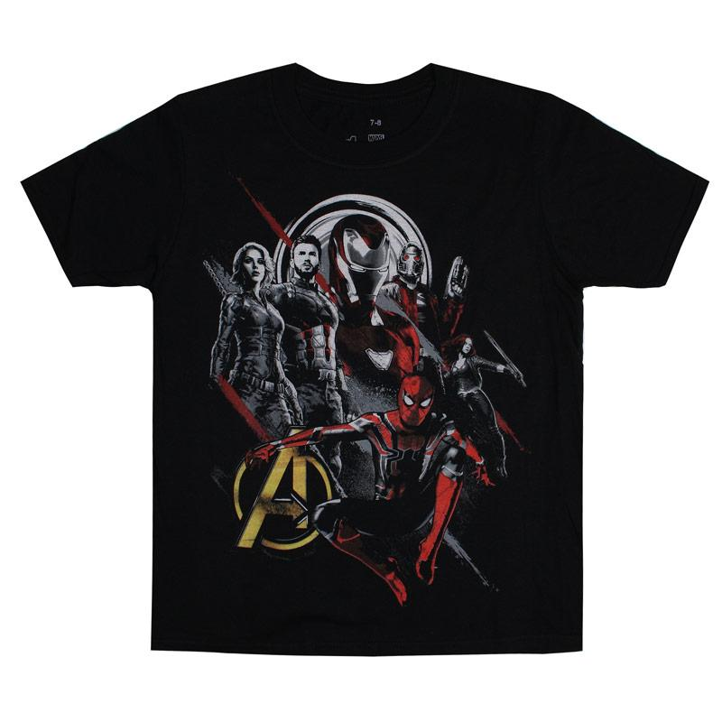 Tričko Marvel Junior Boys Avengers Winter Solider T-Shirt Black