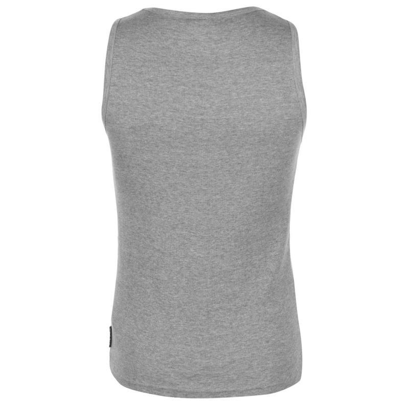 Tílko Lee Cooper Essentials Ribbed Vest Mens Black