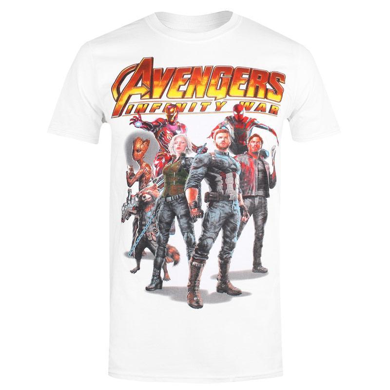 Tričko Marvel Mens Avengers Infinity Group T-Shirt White