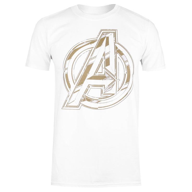 Tričko Marvel Mens Avengers Infinity Logo T-Shirt White