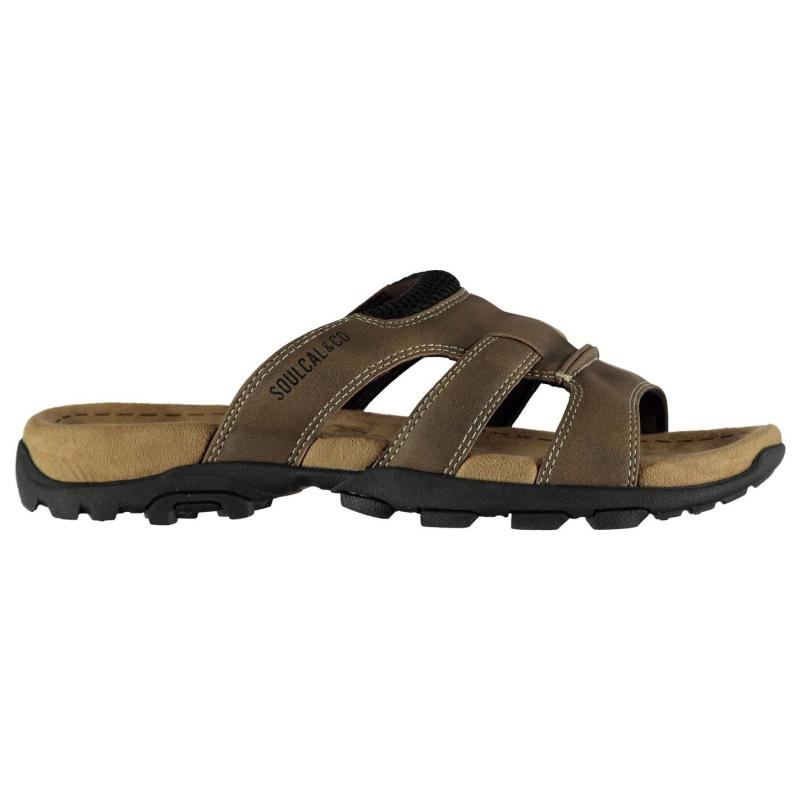 SoulCal Lounge Sandals Mens Brown