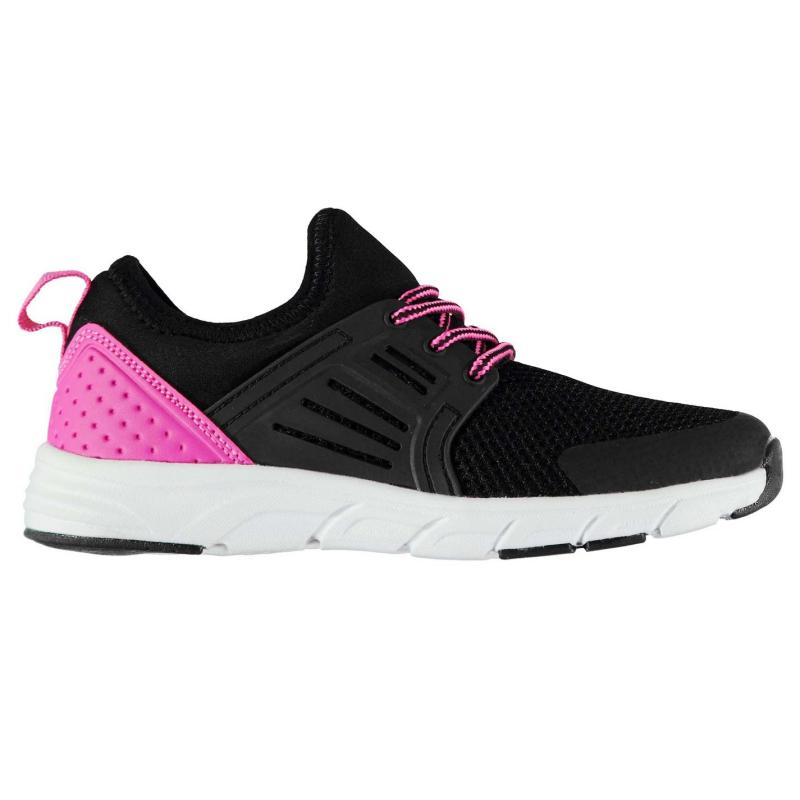 Fabric Monza Childrens Trainers Pink/White