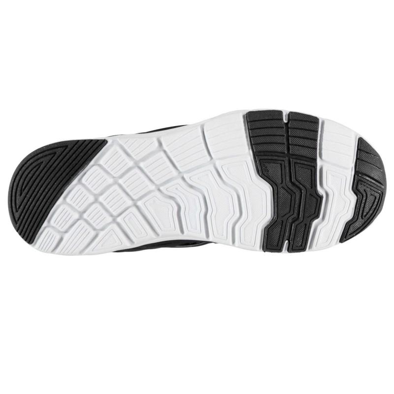 Fabric Monza Childrens Trainers Black/White