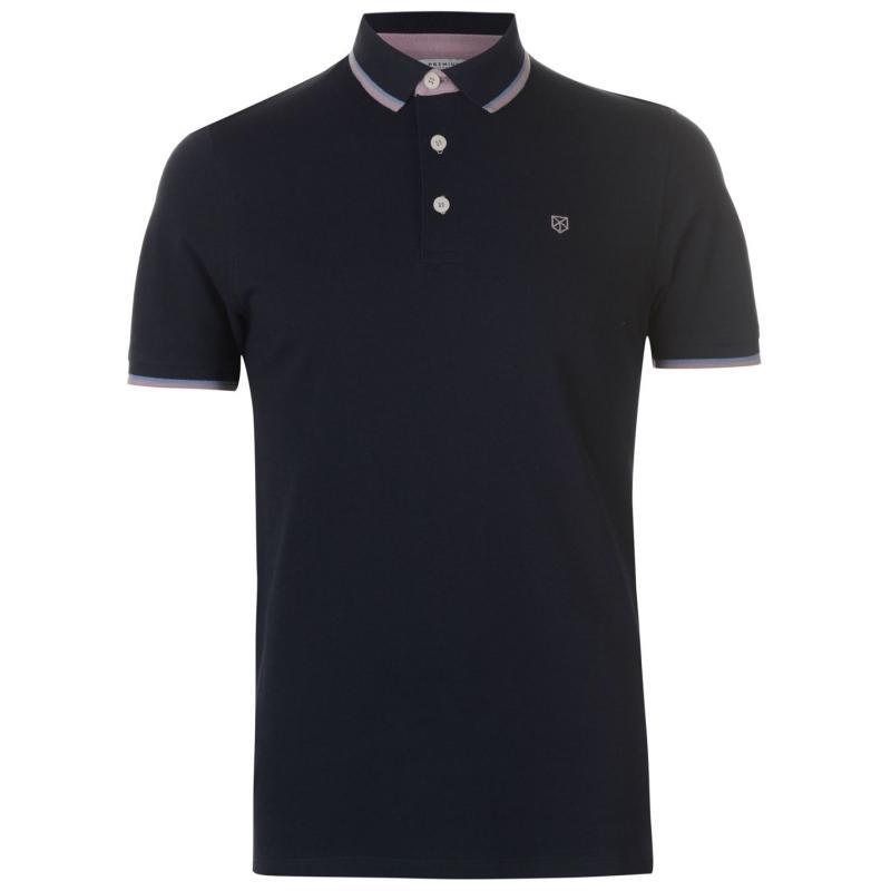 Jack and Jones Premium Paulos Play Polo Shirt Mood Indigo
