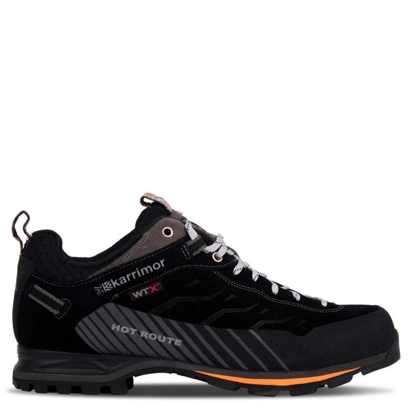 Boty Karrimor Hot Route WTX Mens Walking Shoes Black/Orange