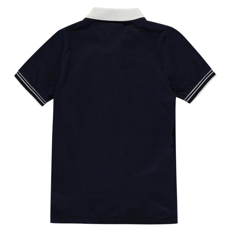 Lonsdale Jersey Polo Shirt Junior Boys Navy/White