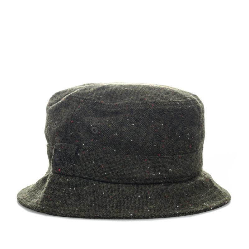 New Era Mens Buck Tweed Bucket Hat Khaki