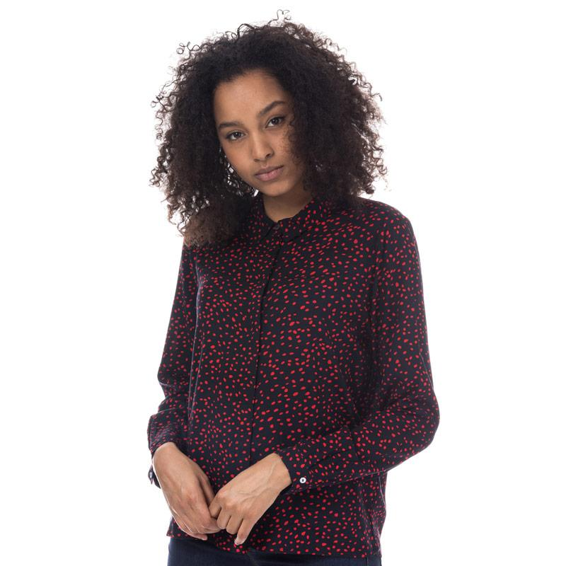 Only Womens Anika Shirt Navy Red