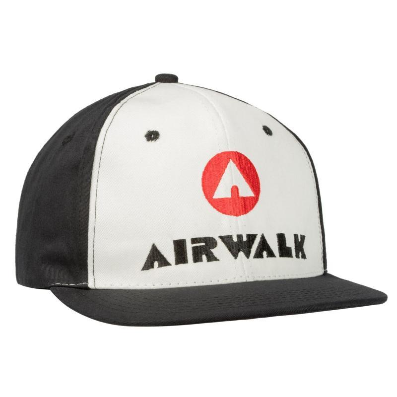 Airwalk Flat Peak Cap White