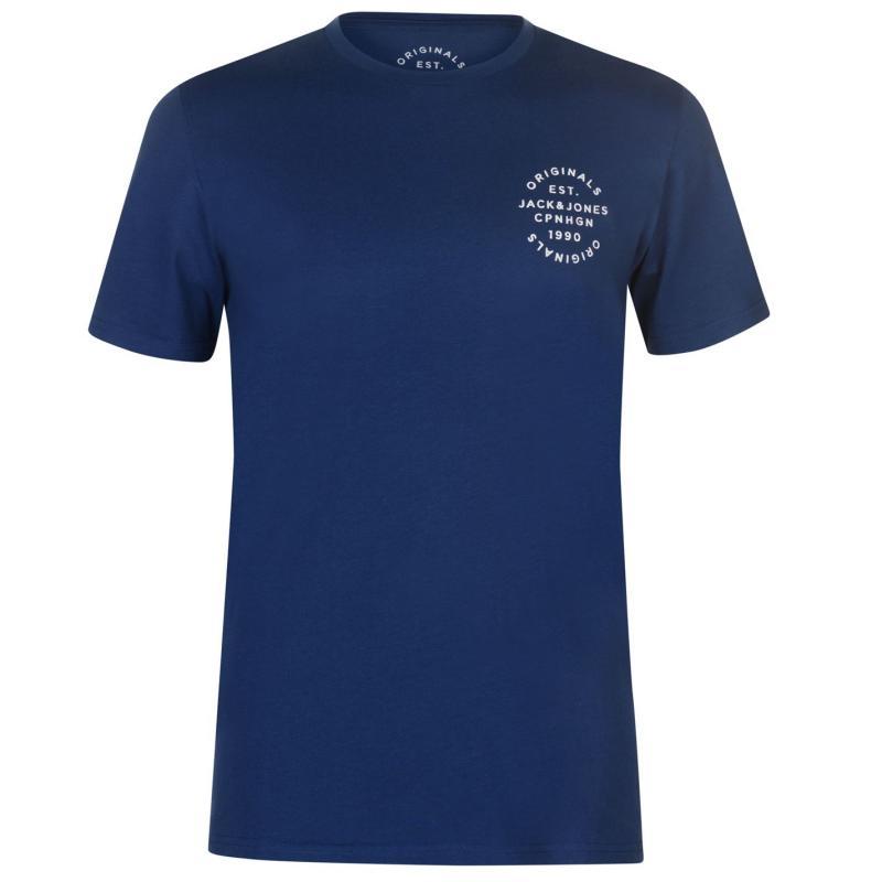 Tričko Jack and Jones Original Solid Bell T Shirt Total Eclipse