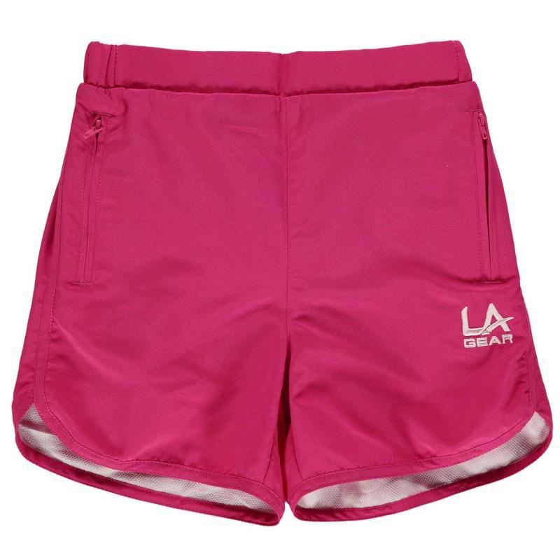 LA Gear Woven Shorts Junior Girls Pink