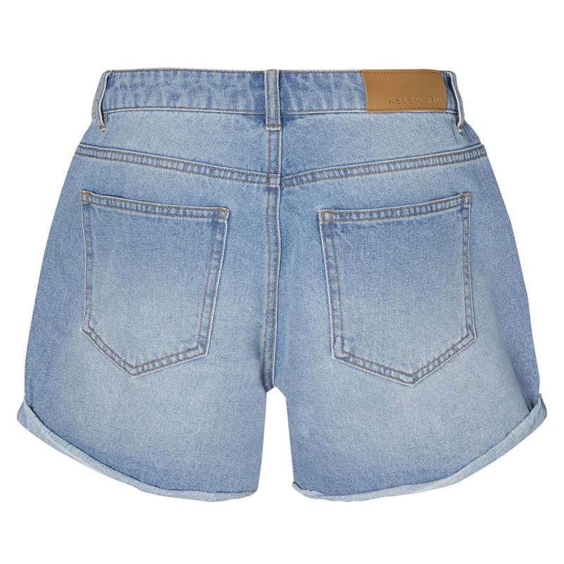 Noisy May Denim Fishnet Shorts Blue Denim