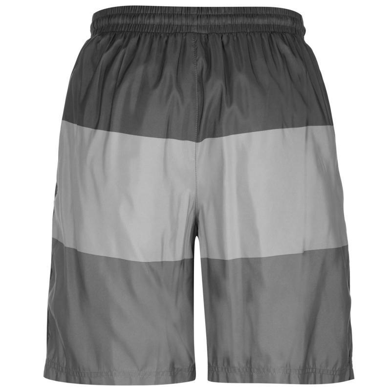 Slazenger Graphic Shorts Mens Charcoal Stripe