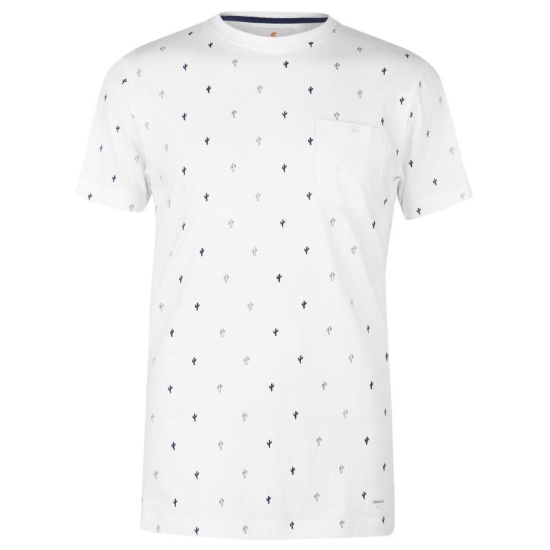 Tričko SoulCal Cactus Print T Shirt White