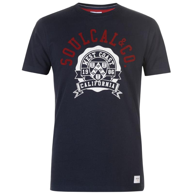 Tričko SoulCal Deluxe Collegiate T Shirt Navy