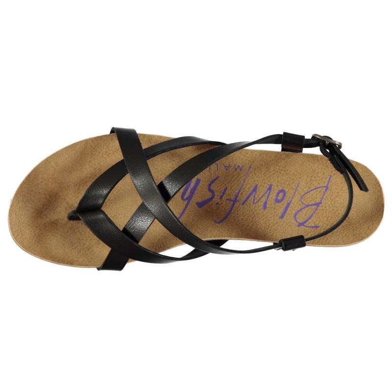 Boty Blowfish Golden Sandals Black