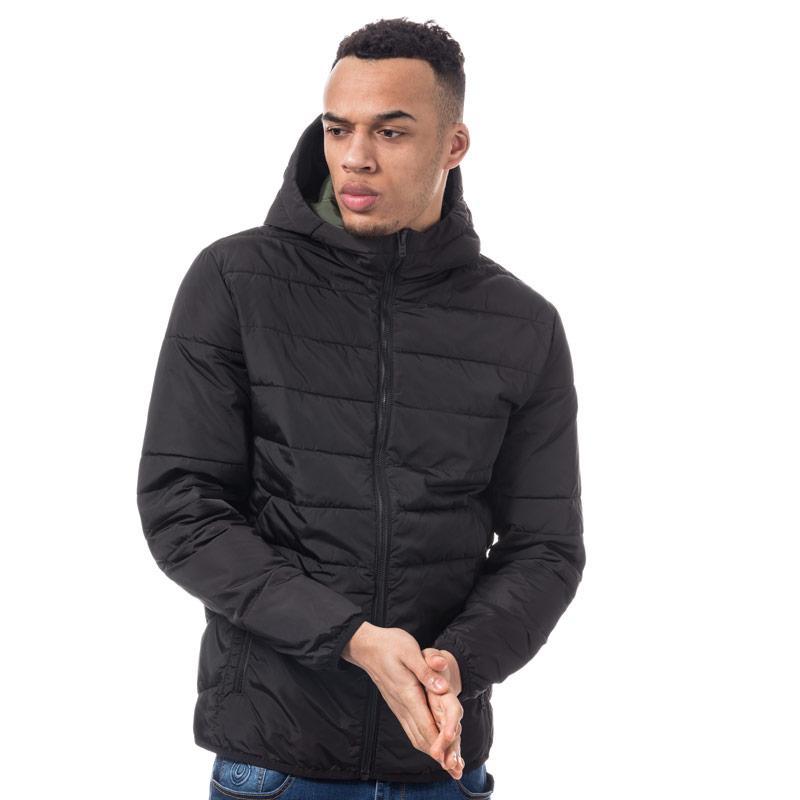 Jack Jones Mens Bin Puffer Jacket Black