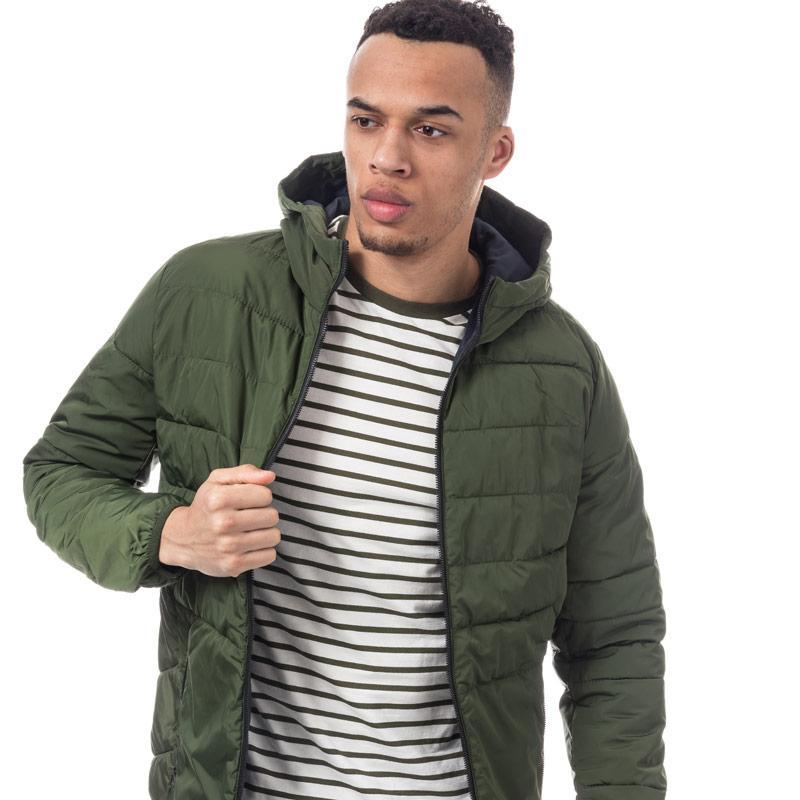 Jack Jones Mens Bin Puffer Jacket Green