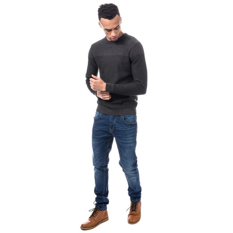 Jack Jones Mens Boost Knit Grey