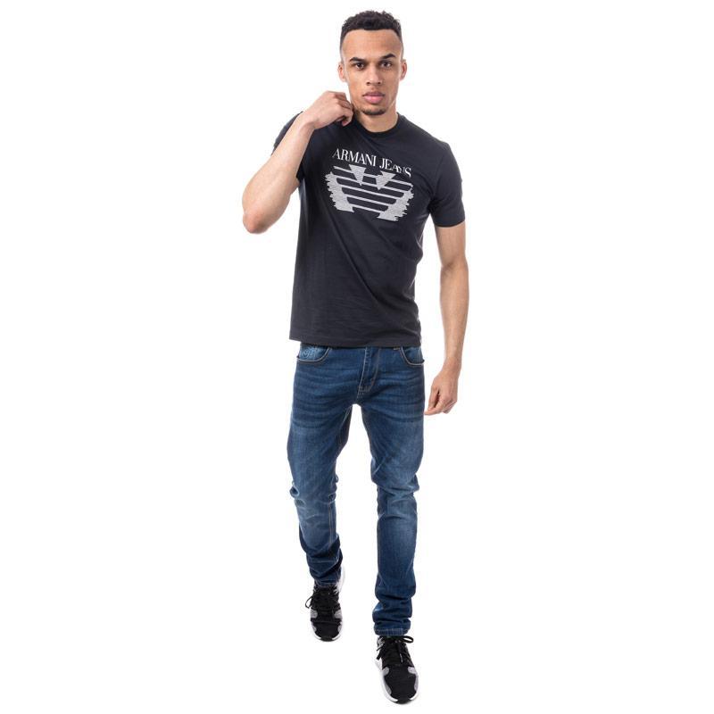 Tričko Armani Mens Eagle Logo T-Shirt Navy