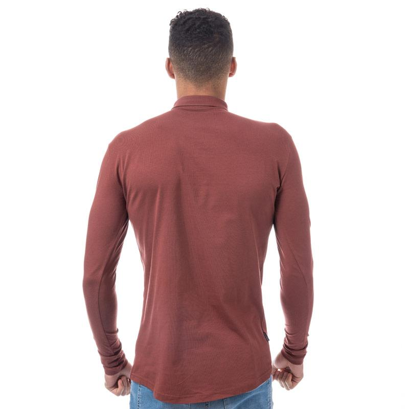 Tričko Gym King Mens Long Sleeve Jersey Shirt Red