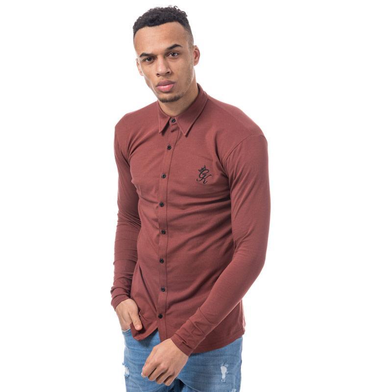 Tričko Gym King Mens Long Sleeve Jersey Shirt Red