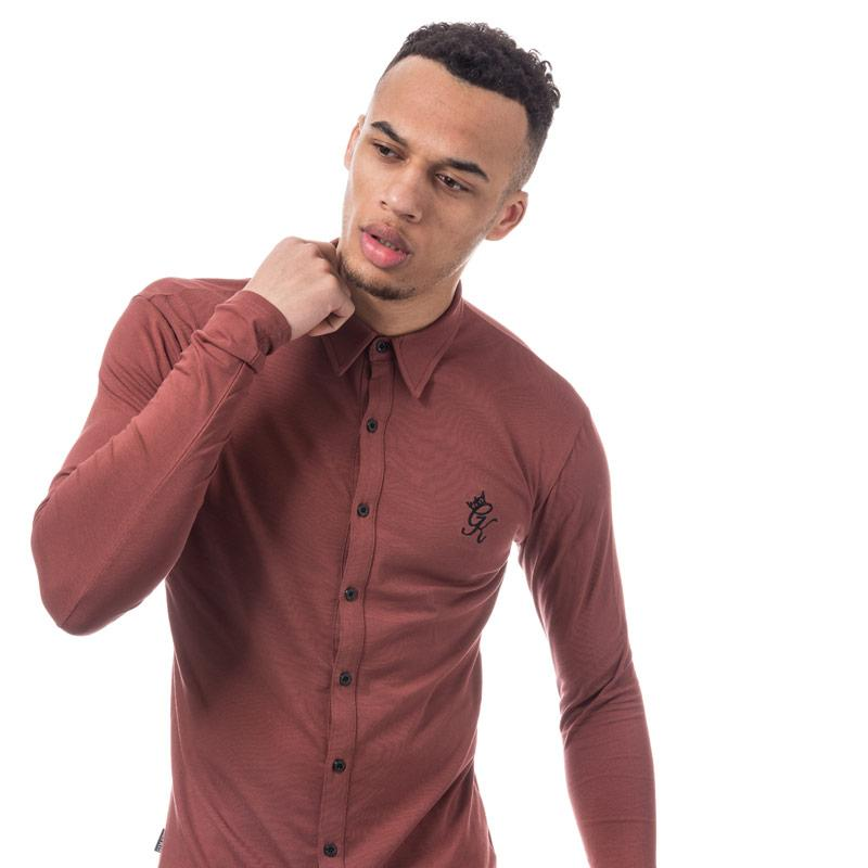 Gym King Mens Long Sleeve Jersey Shirt Red