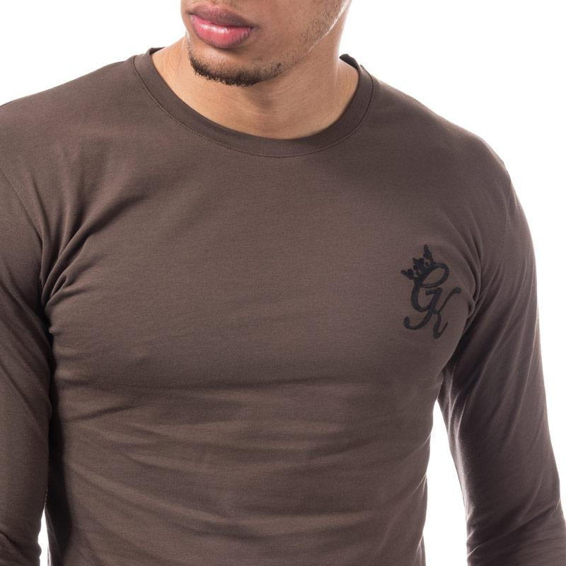 Tričko Gym King Mens Ls Undergarment T-Shirt Brown