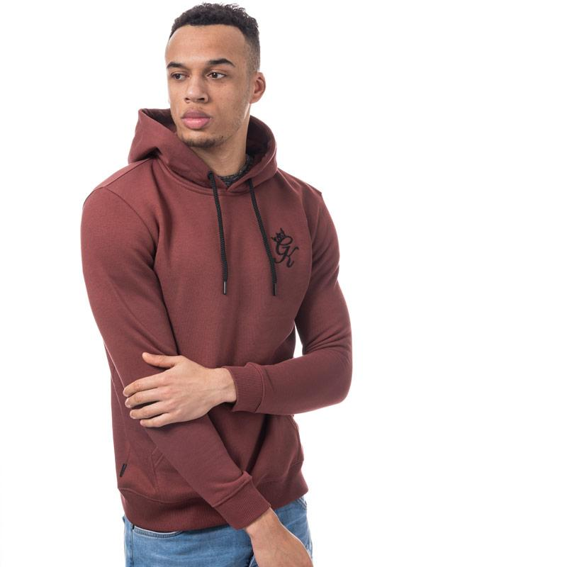 Mikina Gym King Mens Over Head Hooded Top Red