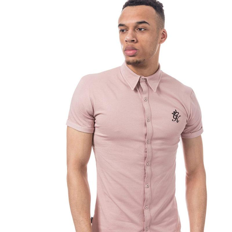 Tričko Gym King Mens Short Sleeve Jersey Shirt Rose