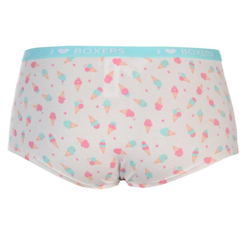 Spodní prádlo Miso Mixed Briefs Ladies White Thong