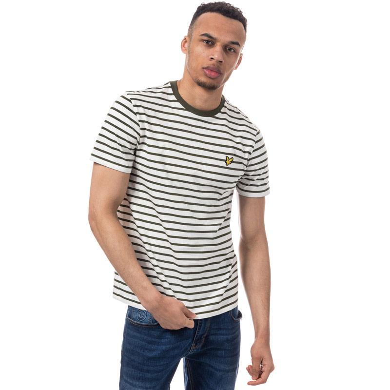 Tričko Lyle And Scott Mens Brenton Stripe T-Shirt Off White
