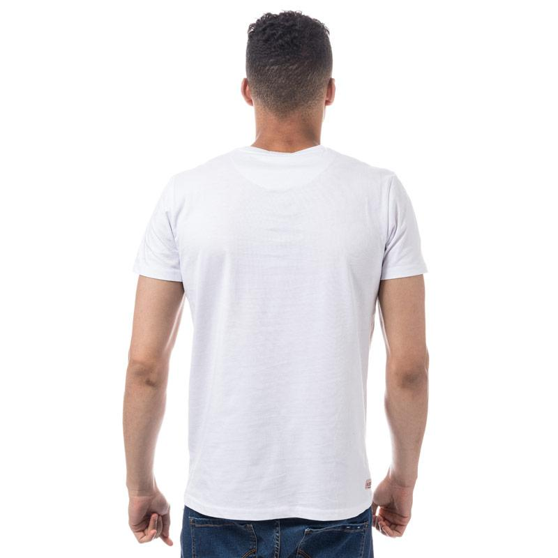 Tričko Weekend Offender Mens Bulger Reflective Badge T-Shirt White