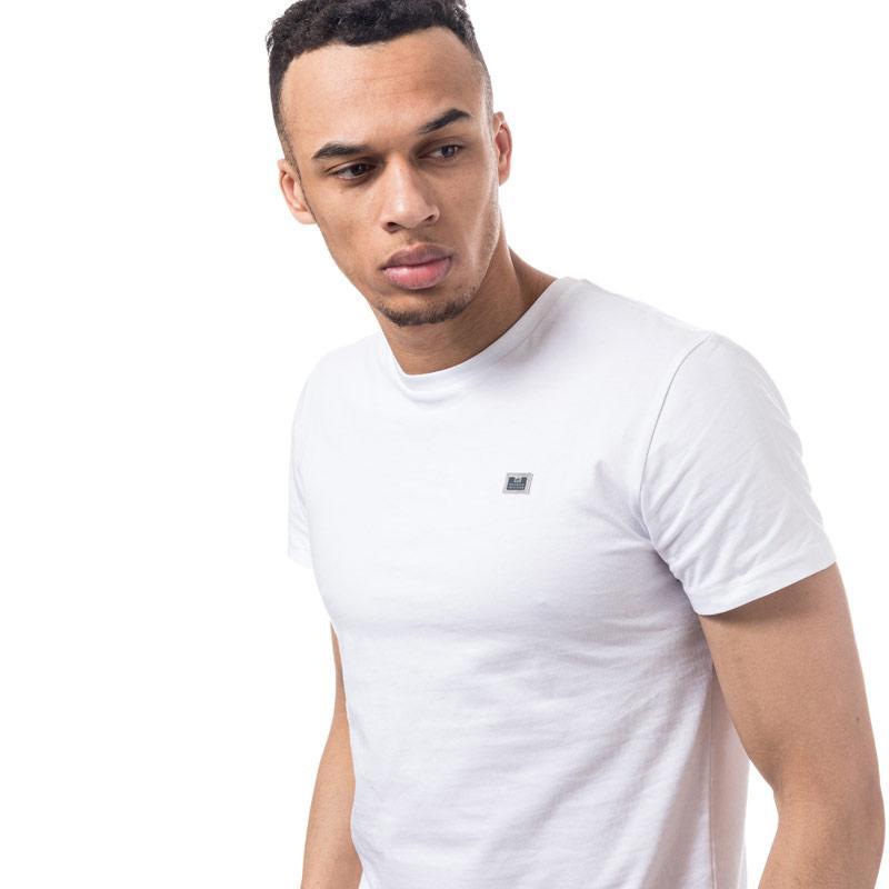 Tričko Weekend Offender Mens Bulger Reflective Badge T-Shirt White