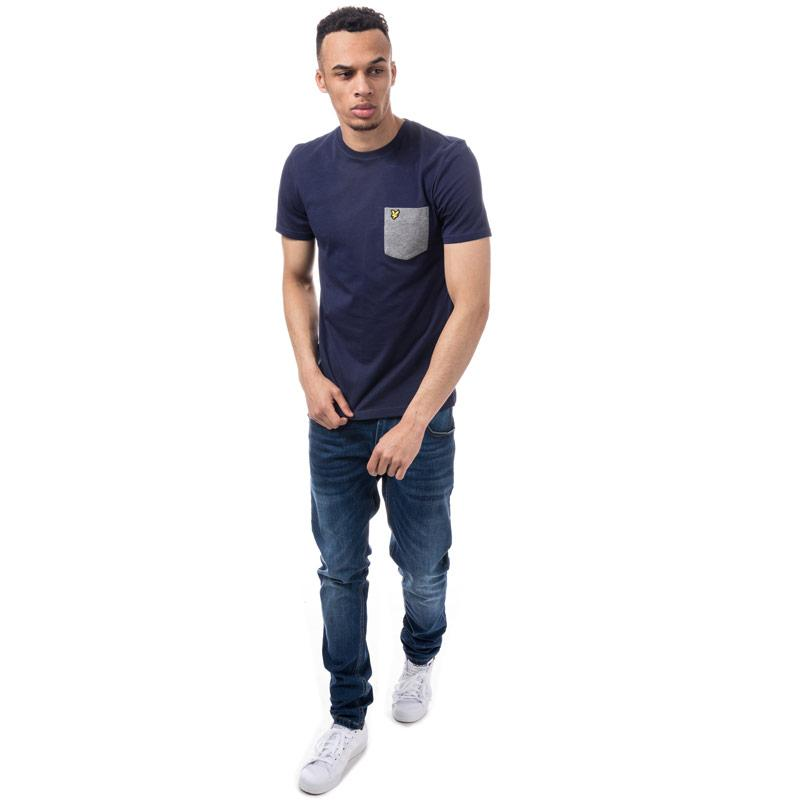 Tričko Lyle And Scott Mens Contrast Pocket T-Shirt Navy