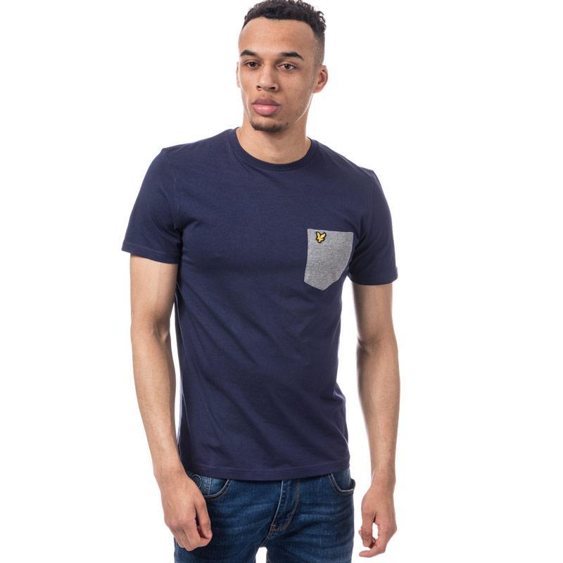 Tričko Lyle And Scott Mens Contrast Pocket T-Shirt Navy