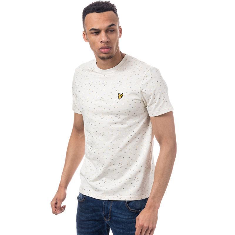 Tričko Lyle And Scott Mens Fil Coupe T-Shirt Off White