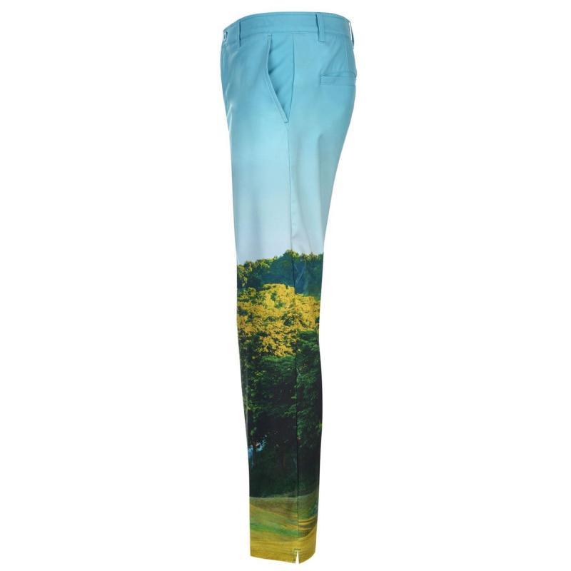 Kalhoty Slazenger Print Golf Trousers Mens Charcoal