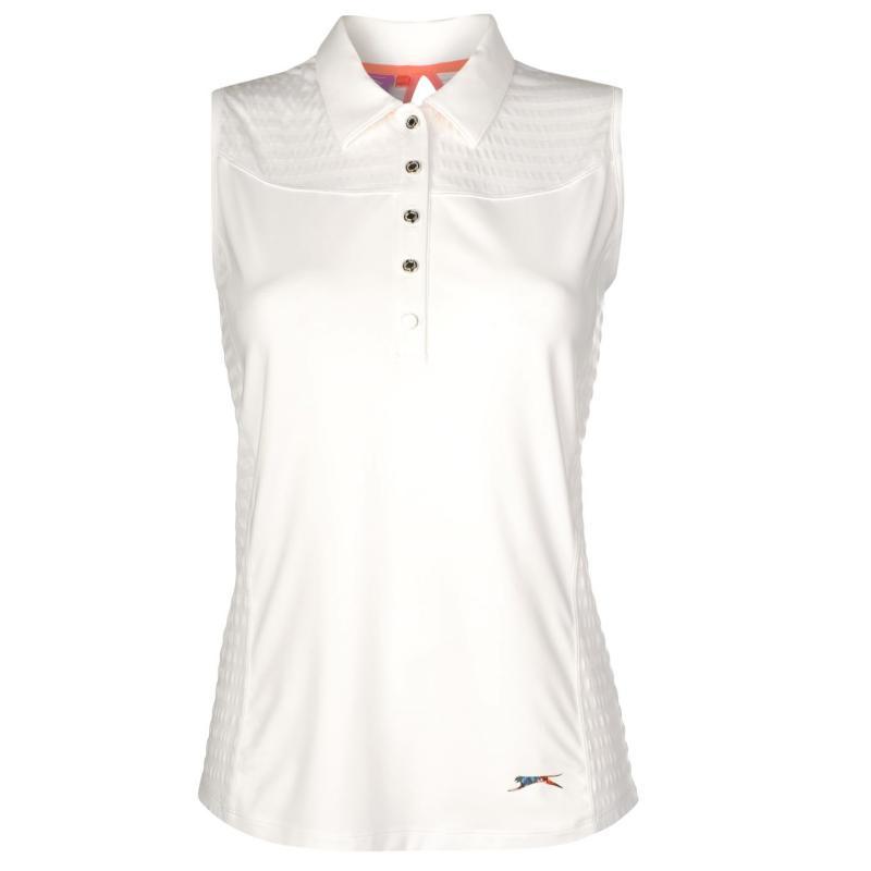 Polokošile Slazenger Sleeveless Polo Shirt Ladies White