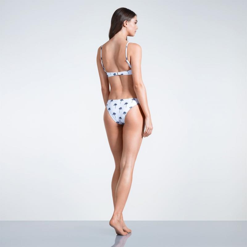 Plavky SoulCal High Leg Bikini Bottoms Ladies White Palm Prnt