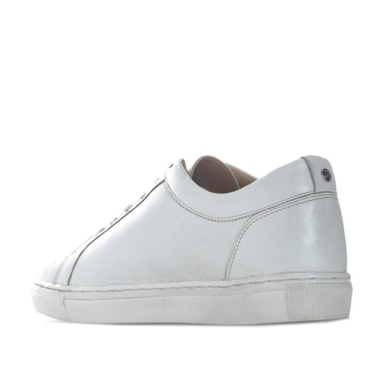 Ravel Womens Garo Embroidered Leather Trainers White