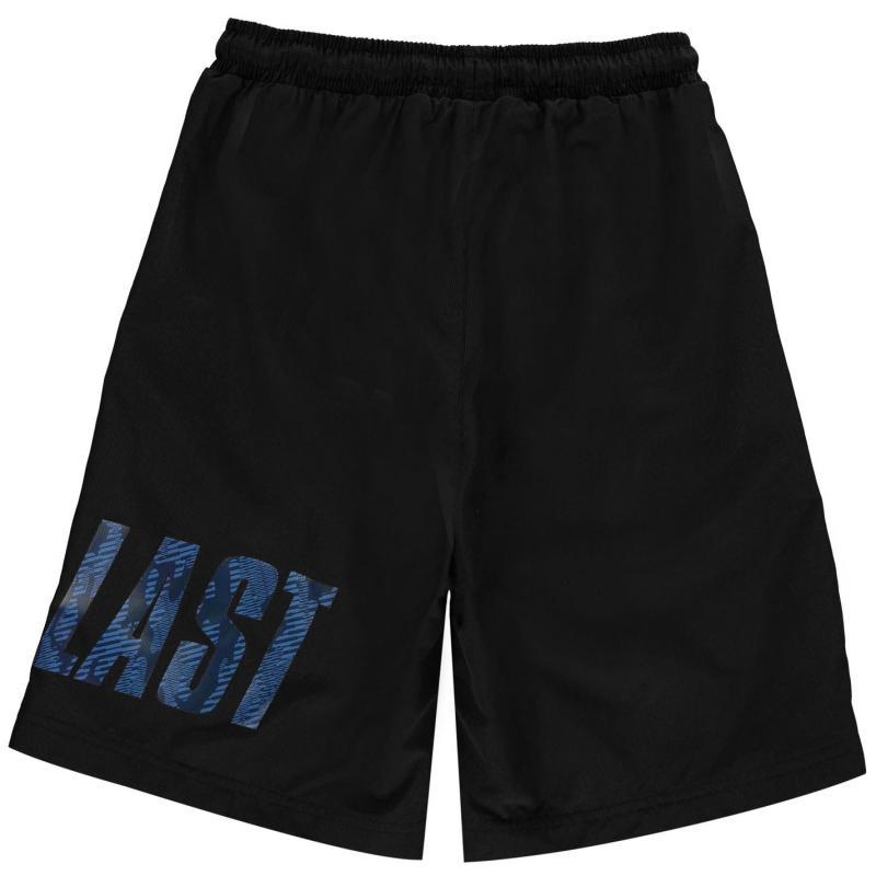Kraťasy Everlast Large Logo Woven Shorts Junior Boys Black
