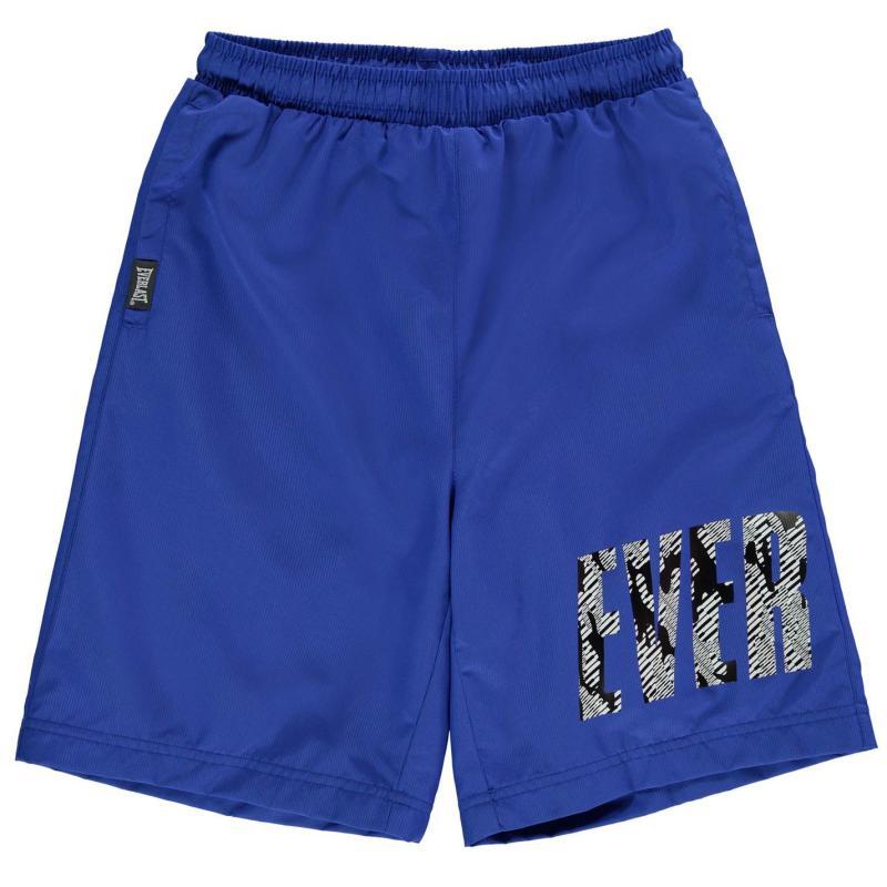 Kraťasy Everlast Large Logo Woven Shorts Junior Boys Blue