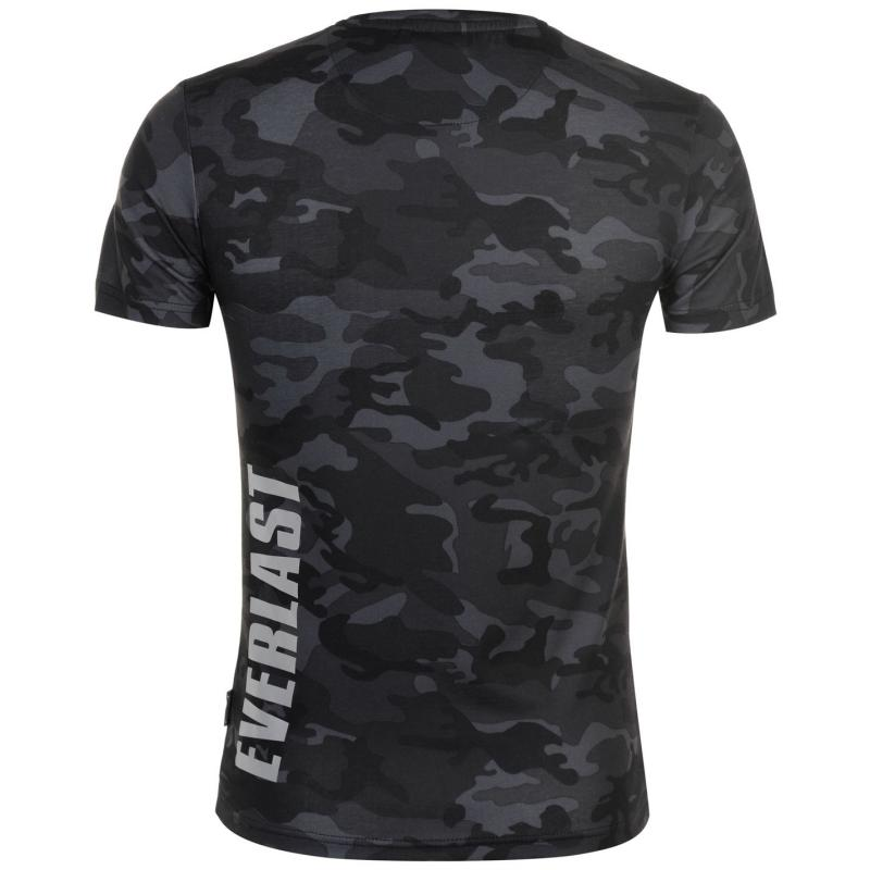 Tričko Everlast Premium T Shirt Mens Black Camo