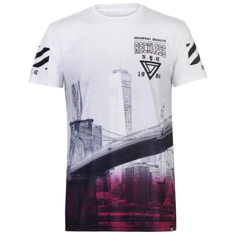 Tričko Fabric Sublimation T Shirt Mens Smoke White