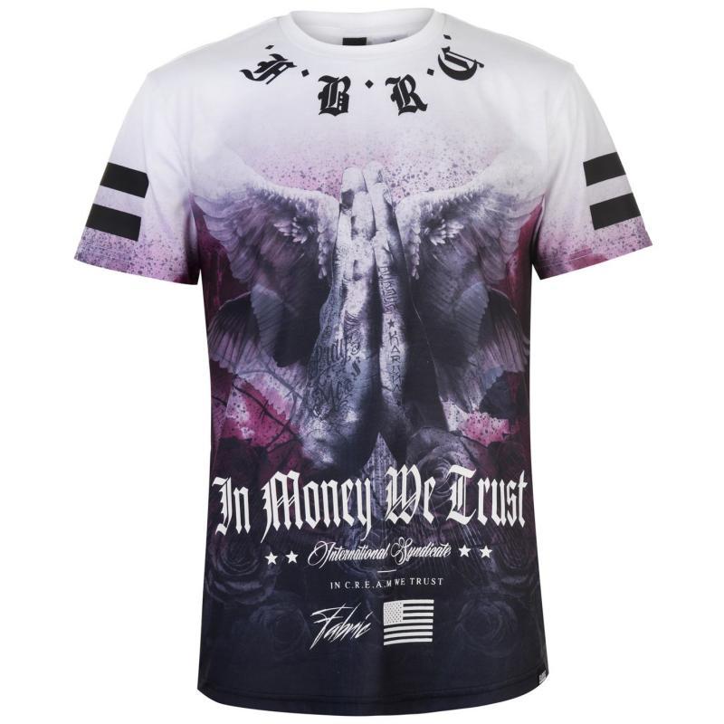 Tričko Fabric Sublimation T Shirt Mens Wings Purple