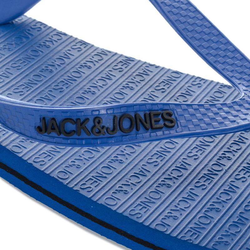 Jack Jones Mens Basic Flip Flops Blue