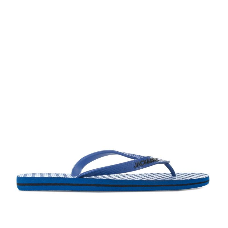 Jack Jones Mens Basic Flip Flops Blue